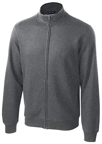 Sport-Tek Men's Full Zip Sweatshirt,Medium,Vintage Hthr - Vintage Zip