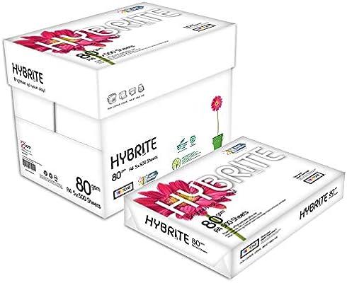 HYBRITE Papel Multiusos A4 Para Impresora Pack 5000 Folios 80gr ...