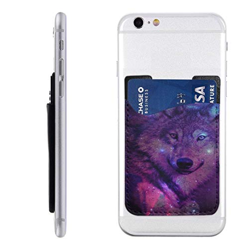 Wolf Galaxy Fashion Card Holder Back Phone Cell Phone, used for sale  Delivered anywhere in USA