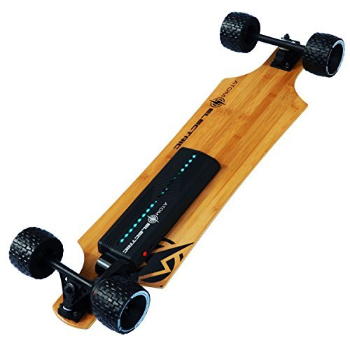 Atom Longboards Electric B10X All Terrain Longboard Skateboard (90Wh Lithium Battery & 1000W Motor), Wood
