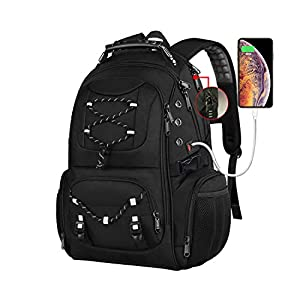 17.3 inch Laptop Backpack, Anti-Theft Business Work Backpacks Bag with Usb Charging Port, Water Resistant 15.6 Inch Computer Rucksack for Travel College School Men Women