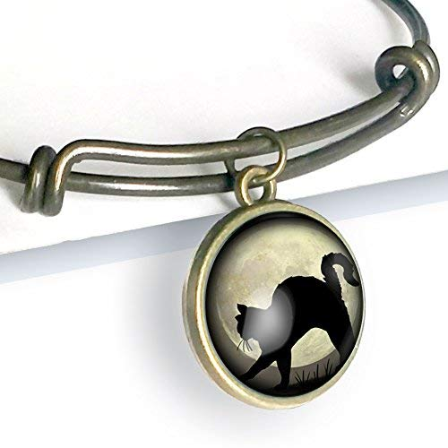 Black Cat Charm Bracelet