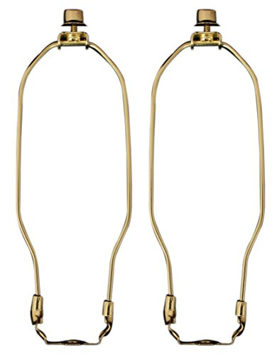 Royal Designs 8 Set of 2 Brass Lamp Harps with Finials