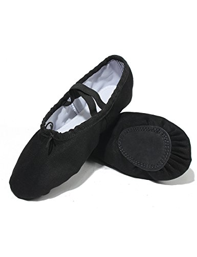 Adult Black Slipper Girls Ballet Sole Dance Dance and for Lily's Locker Children Split Shoes 47x6Aq0wO