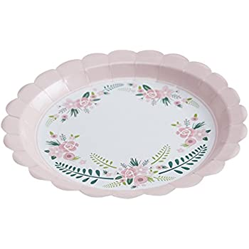 Ginger Ray Floral Fancy Design Party Paper Plates Mixed  sc 1 st  Amazon.com & Amazon.com: Ginger Ray Floral Fancy Design Party Paper Plates Mixed ...