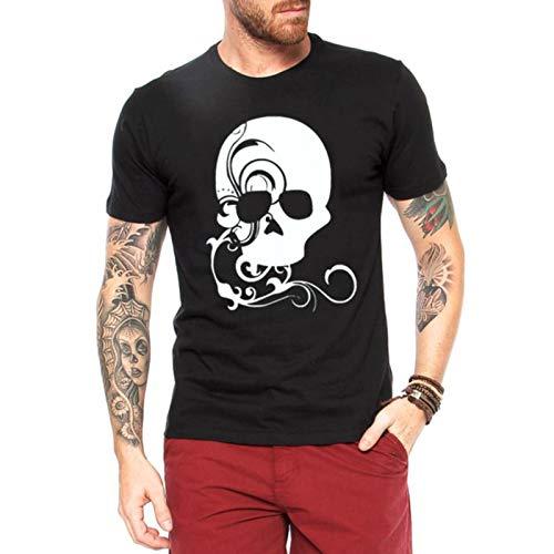 Camiseta Criativa Urbana Caveira Decorada Preto G