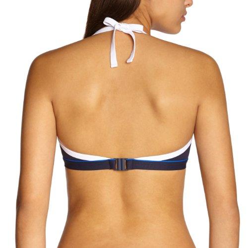 Livia - Parte superior del bikini copa completa para mujer Azul (Marine Santorin)