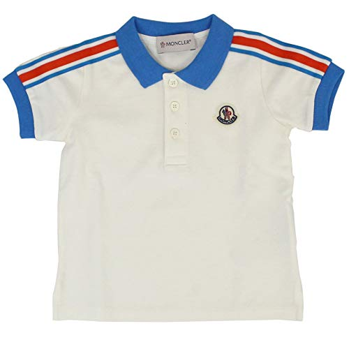 Moncler Baby Boys 88128058496F034 White Cotton T-Shirt ()