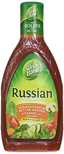Russian Dressing - Wish-Bone Russian Dressing, 16 oz (473mL), Pack of 3