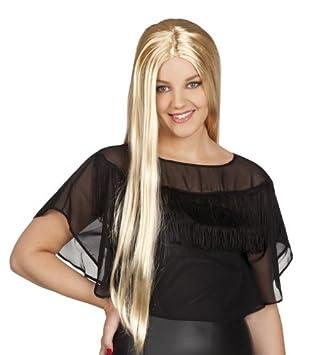 Peluca de pelo largo Rubio de la peluca de bruja para mujer peluca de bruja