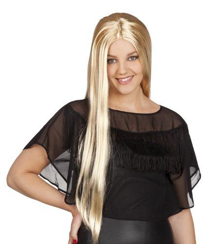 Peluca de pelo largo Rubio de la peluca de bruja para mujer peluca de bruja: Amazon.es: Juguetes y juegos