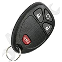 APDTY 24820 Keyless Entry Remote Key Fob Transmitter 4-Button (Models With Remote Start; Without Power Rear Lift Gate; Replaces GM 20952474, 25836190, 20868672, 15913421)