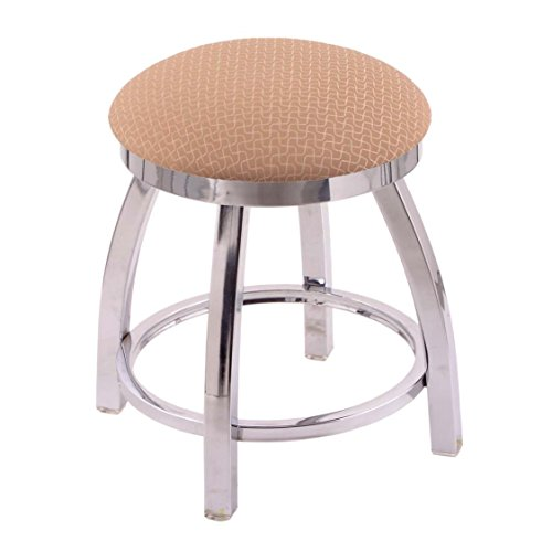 Holland Bar Stool Co. 802 Misha Vanity Stool with Chrome Finish and Swivel Seat, 18'', Axis Summer by Holland Bar Stool