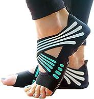 Yoga Socks for Women Non Slip, Toeless Non Skid with Grip Sock - Pilates, Barre, Ballet,Bikram Workout