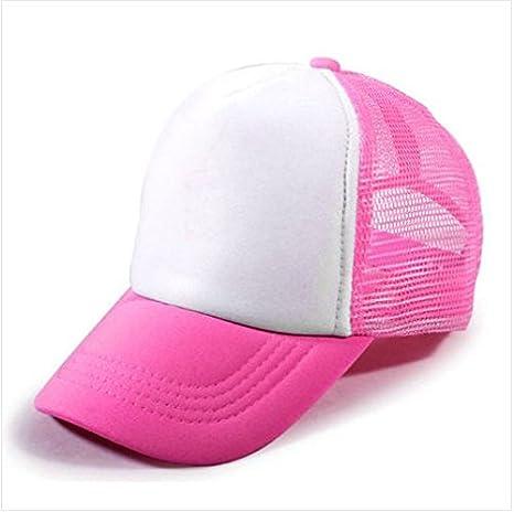 Starworld - Gorra de golf con malla, gorra unisex para personalizar, niña, Rosa roja, talla única: Amazon.es: Deportes y aire libre
