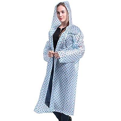 Yacun Impermeable 3 Pack con Capucha Al Aire Libre Poncho De Lluvia De Las Mujeres Chaqueta De Los Hombres Blue3P One Size: Ropa y accesorios