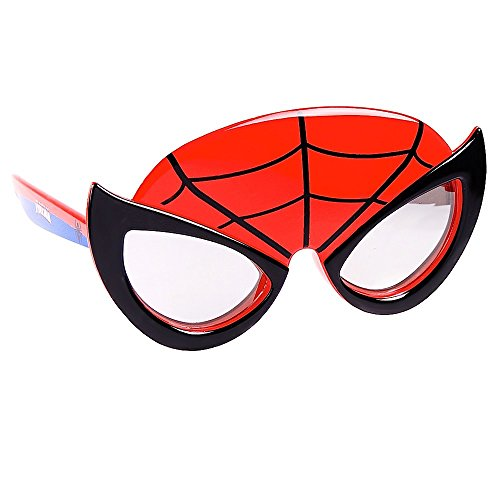 (Sun-Staches Costume Sunglasses Marvel Lil' Characters Spiderman Party Favors)