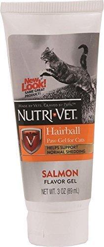 Nutri-Vet Feline Hairball Paw Gel, Salmon 3 oz (pack of (Paw Gel)
