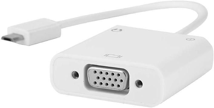 Vbestlife Adaptador Micro USB/VGA, Adaptador MHL con Cable ...