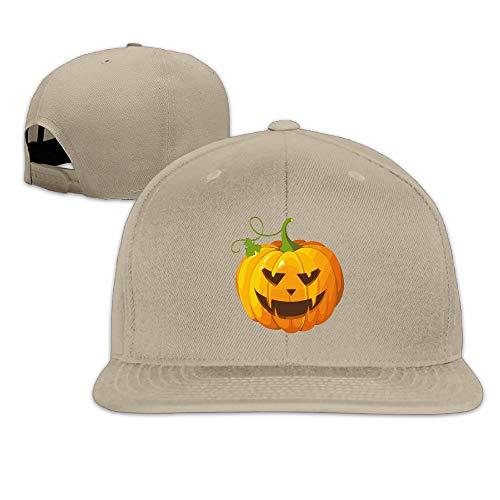 Halloween Pumpkin Clip Art Plain Adjustable Snapback Hats Men's Women's Baseball Caps