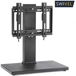 RFIVER TAVR Universal Pedestal TV Bracket /Tabletop TV stands/TV riser – easy to assemble