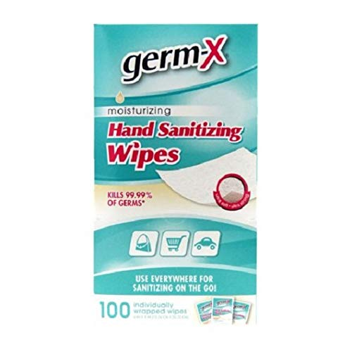 Germ-X Antibacterial Soft Hand Wipes Singles, 100 Count (6 Pack) by Germ-X