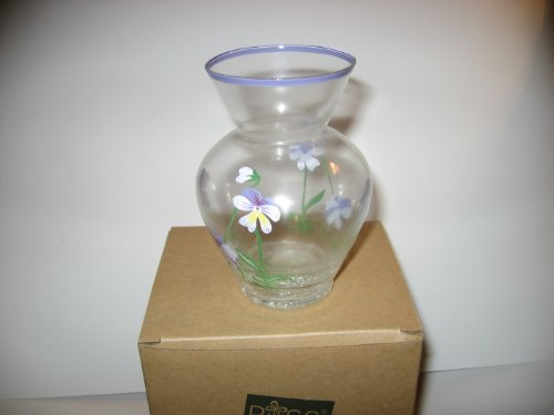 - Spring Bouquet Handpainted Glass Vase