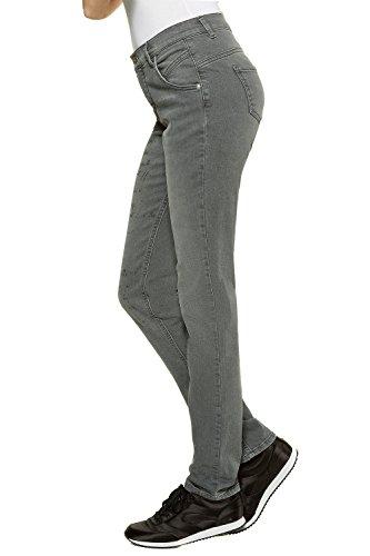 GINA LAURA Damen Slim Jeans Anna NG Schrift Druck Grey Denim wskvIzTI
