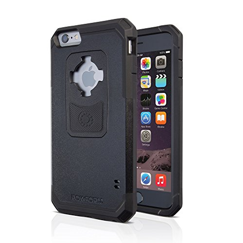 Rokform iPhone 6/6s PLUS Rugged Series Military Grade Magnetic Protective Phone Case with twist lock & universal magnetic car mount (Black) 302301
