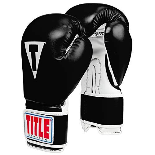 Title Classic Pro Style Training Gloves 3.0, Black/White, 12 oz ()
