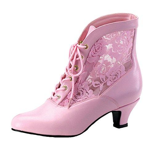 Heels-Perfect Stiefelette, Damen, Rosa (Rosa) Rosa (Rosa)