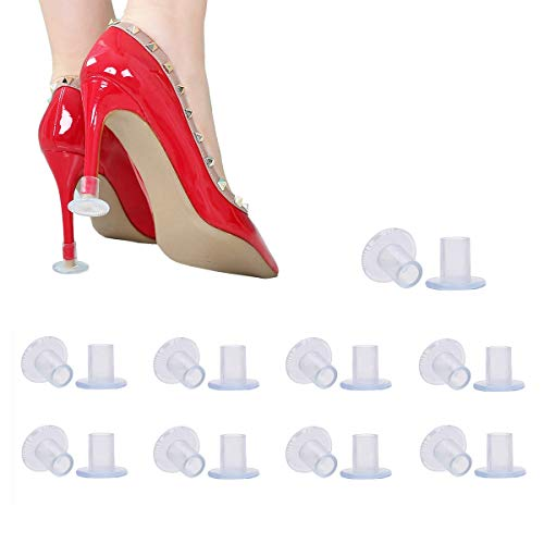 9 Pairs Clear High Heel Protectors Heel Stoppers for Wedding Mates -