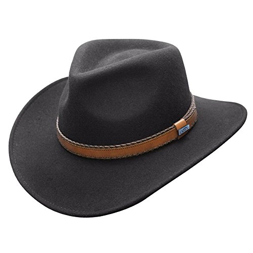 Conner Hats Men's Outback Creek Crushable Wool Hat, Black, S from Conner Hats