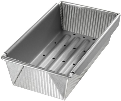 (USA Pan Bakeware Aluminized Steel Meat Loaf Pan with Insert)