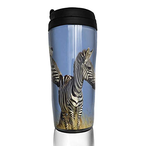 Coffee Cup Rainbow Zebre Travel Tumbler Insulated Leak Proof Drink Containers Holder Special 12 Ounces