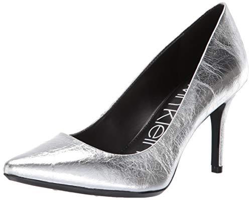 Calvin Klein Women's Gayle Pump, Silver Thrill Metallic, 8.5 M US ()