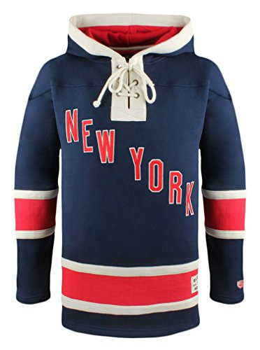 New York Rangers Men's Alternate Lacer Heavyweight Hoodie, XX-Large, Navy ()