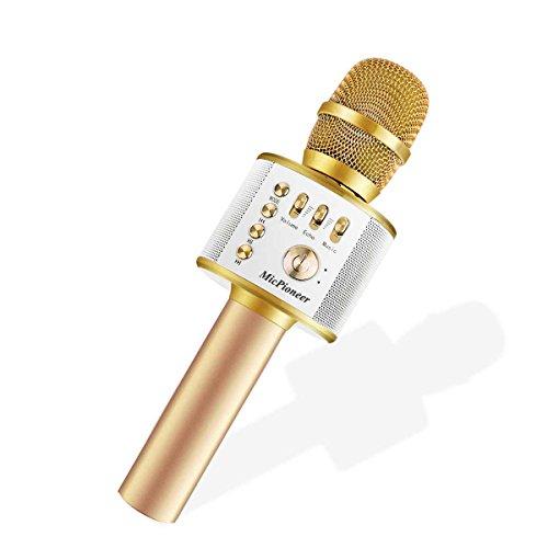 Micpioneer Wireless Karaoke Microphones, 3 in 1 Multi-function Bluetooth Microphone Speaker for iPhone, Android,...