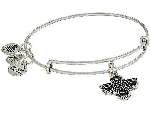 Alex and Ani Women's Wonder Woman Lasso Knot Bangle Bracelet Rafaelian Silver One Size]()