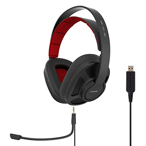 Koss GMR-545-AIR USB Over-Ear Gaming Headphones, Two Cords with Microphone Included, Open-Back Design, Wired with USB Plug, Black