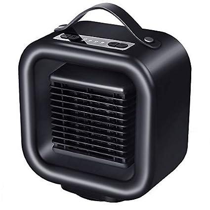 ABREOME Mini Ventilador Calefactor portatil Estufa de Cerámica - 500 / 1000 W 2 velocidades ,