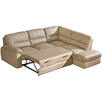 Baltica Dolm06 Right Corner Sectional Sofa Bed, Beige