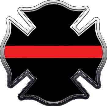 Thin Red Line Maltese Cross Brotherhood Decal - 2