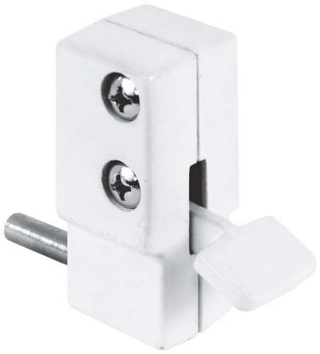 - Defender Security U 9879 Sliding Door Lock, White Finish