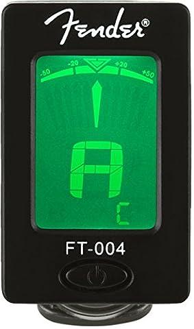 Fender Clip-On Tuner FT-004 for Guitar, Ukulele, Bass, Violin, Mandolin, and Banjo (Guitar / Bass)