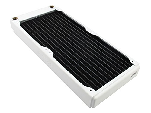 (XSPC EX280 Radiator, 140mm x 2, Dual Fan, White)