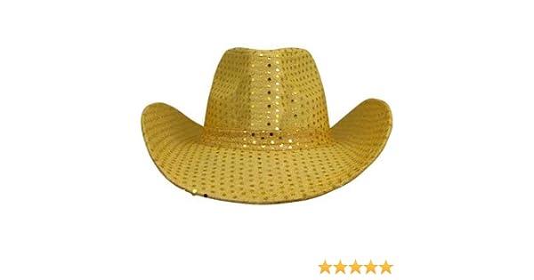 39876b3dedfd5 Amazon.com  Cowboy Hat Gold Glitter  Toys   Games