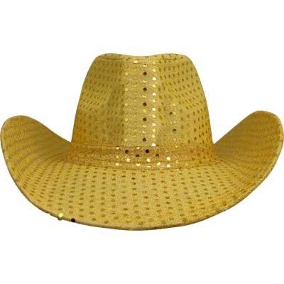 Cowboy Hat Gold Glitter