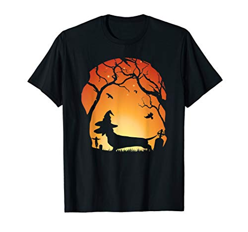 Dachshund Halloween Shirt (Halloweenie Halloween Dachshund T-Shirt Wiener Dog)