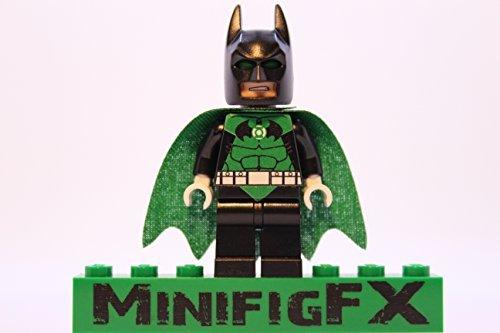 Custom Lego Green Lantern Batman Minifig Dc Comics Super Hero Justice League Darkest Knight
